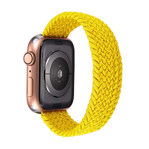 Correa elástica tejida de nailon de moda para Apple Watch SE Band Series pulsera para IWatch 40mm 44mm 38 / 4mm cinturón ligero