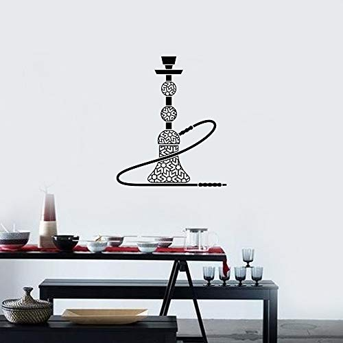 YuanMinglu Shisha Räucherstäbchen Vinyl Wandapplikation arabischen Stil Interieur Schlafzimmer Aufkleber Wandbild schwarz 80x94cm