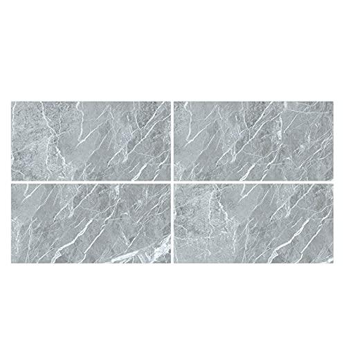 DealMux 4 piezas pegatinas de azulejos de mármol de cristal PVC suelo suelo pared calcomanía papel tapiz decoración pegatinas de pared
