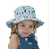 LFLONG Sombrero de Copa, Sombrero de Sol para Niños, Playa de Verano Plegable,Sombrero de Verano Suave,B-SX(44-46CM)