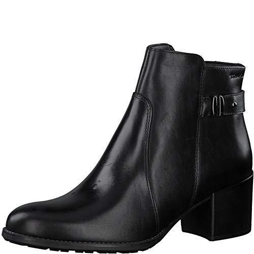 Tamaris Damen Stiefeletten, Frauen Ankle Boots, Woman Business geschäftsreise geschäftlich büro Stiefel halbstiefel Bootie,Black,39 EU / 5.5 UK