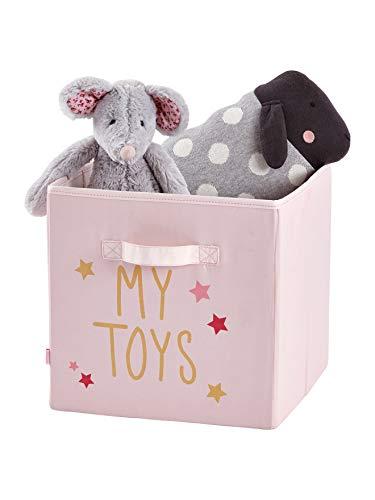 Vertbaudet 3er-Set Aufbewahrungsboxen, Stoff rosa/Mehrfarbig ONE Size