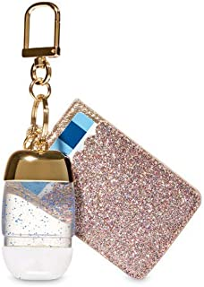 【Bath&Body Works/バス&ボディワークス】 抗菌ハンドジェルホルダー カードケース グリッターゴールド Credit Card & PocketBac Holder Glitterly Gold [並行輸入品]