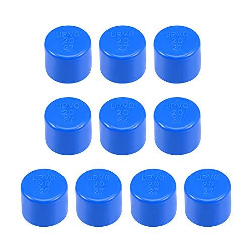 20 mm Allegato 20 raccordo del tappo del tubo in PVC, inserti scorrevoli DWV (scarico dei rifiuti di scarico) Irrigazione piscina insonorizzante, blu 10 pezzi