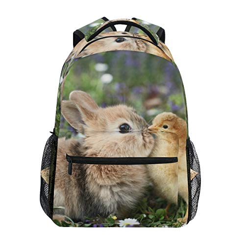School Backpack Best Friends Bunny Rabbit Easter Chick Teens Girls Boys Schoolbag Travel Bag