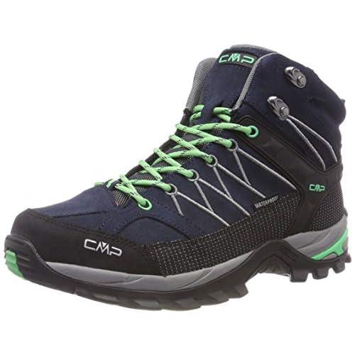 CMP Rigel Mid Wmn Trekking Shoe WP, Scarpe da Arrampicata Alta Donna, Nero (Asphalt-Ice Mint 64bn), 36 EU
