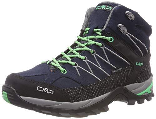 CMP Damen Rigel Mid Wmn Shoe Wp Trekking- & Wanderstiefel, Schwarz (Asphalt-Ice Mint 64bn), 36 EU
