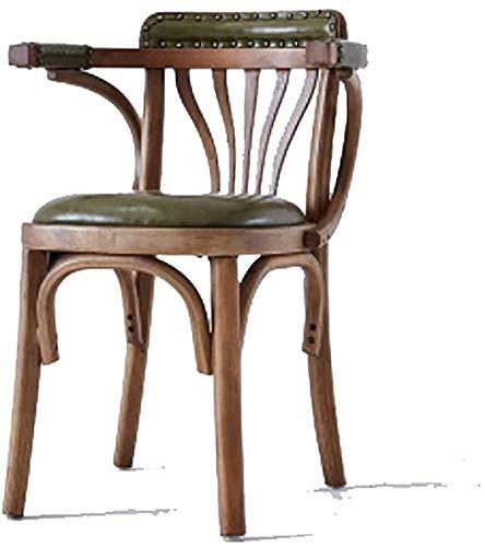 WZH Barhocker Antiker Holzstuhl Hocker Sofastuhl Cafe Copper Nail Drehstuhl Hochstuhl Bar Chair