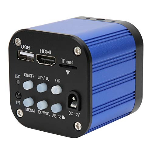 Dpofirs Cámara de microscopio Industrial eléctrico Digital USB HDMI de 4 k con Control Remoto 100-240 V de Alta Distancia de Objetos Mantenimiento Industrial Microscopios electrónicos Lupa(#1)