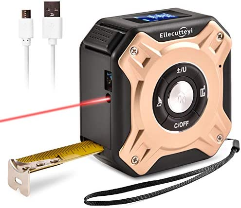 Ellecutteyi Laser Tape Measure 2 in 1 Laser Measure 131ft 40m Measuring Tape 16ft 5m Multifunctional product image