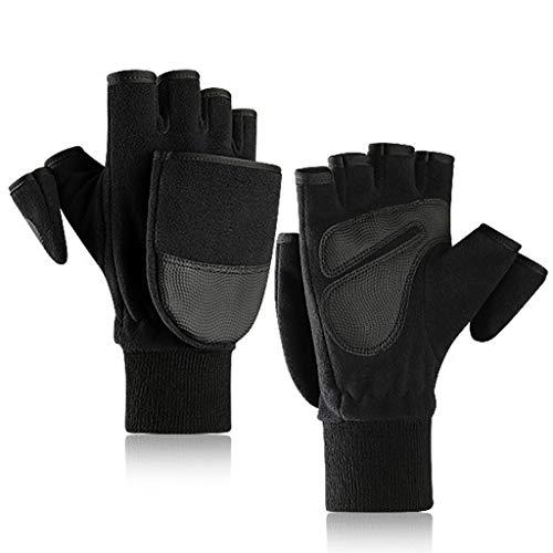 shanghaisty Warme Fleece-Handschuhe, Finger-Touch-Screen-Handschuhe Von Flip Cover Plus Velvet, rutschfeste Dicke Warme Cabrio-Handschuhe Für Den Winter