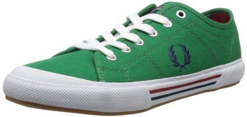 Fred Perry Vintage Tennis Canvas B708 - Sneaker da Uomo, Verde (Privet), 44 EU