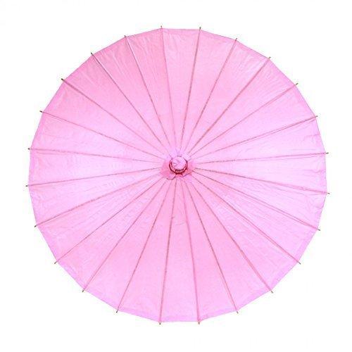 Sogagaga Chinesischer Sonnenschirm, Bambus-Regenschirm, weißer Sonnenschirm, Rosa