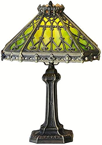 CXSMKP Lámpara de Mesa Estilo Tiffany de 35,56 cm, Estilo Vintage, vidriera, para Dormitorio, Sala de Estar, cafetería, decoración de Escritorio