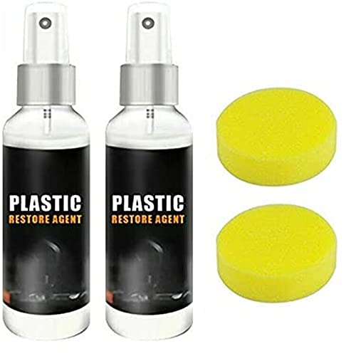 ZGHYBD Car Cleaner Plastic Restorer,Plastic Parts Restore Agent Wax, Instrument Reducing Agent Wax,for Auto and Plastic Renovated Coating Paste Maintenance (2PCS)