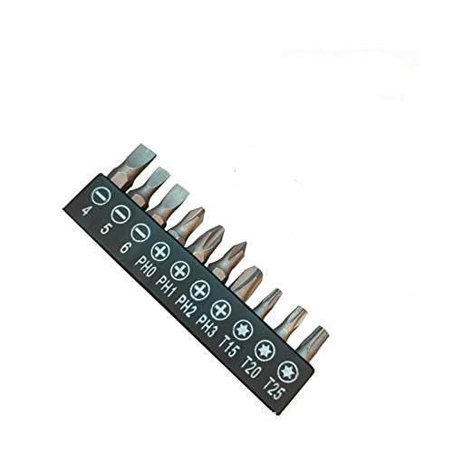 Xianggujie Calidad L Forma de manija Destornillador Conjunto Dual Tips Llave de zócalo con enchufes Destornillador Juego de bits de reparación Herramienta de Mano Kit (Color : 10 bit)