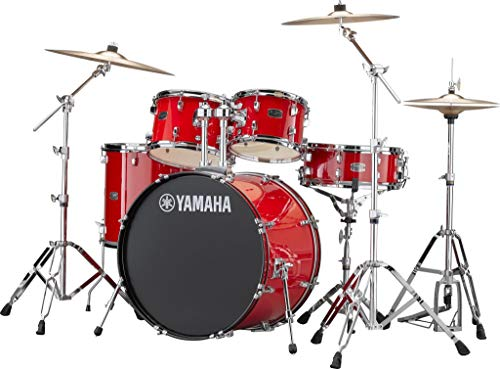 Yamaha RDP2F5RDCPSET Rydeen 22 Inch Drum Kit with Hardware - Hot Red