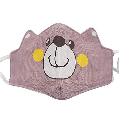 Animal Kids Face Cover BandanaNeck Gaiter,Cotton Fabric Mask Half Face Protective, Infinity Scarf, Anti Dust Protection for Gift,Washable Reusable,Fashion Animal Expressions Paisley Balaclava