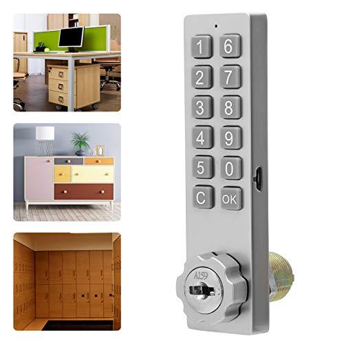 Cerradura de armario con teclado, cerradura de seguridad Material de aleación de zinc resistente Tiempo de espera prolongado con accesorio de montaje para archivadores para Sauna