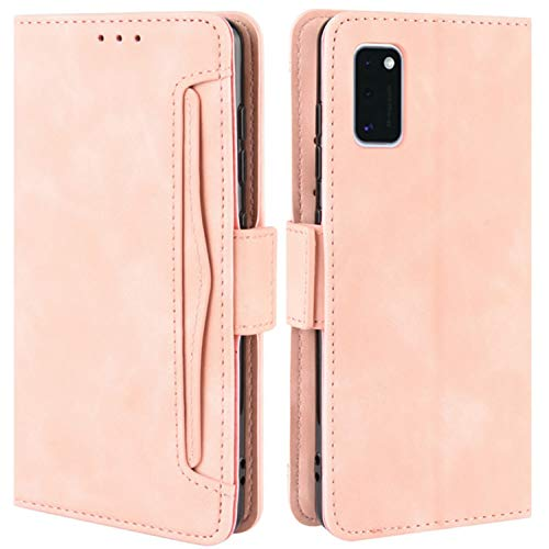 HualuBro Handyhülle für Samsung Galaxy A31 Hülle Leder, Flip Hülle Cover Stoßfest Klapphülle Handytasche Schutzhülle für Samsung Galaxy A31 Tasche (Pink)