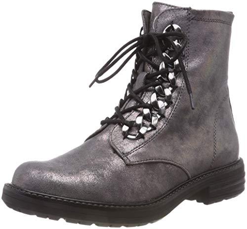 s.Oliver Damen 5-5-25231-21 Combat Boots, Grau (Anthracite Met 219), 41 EU