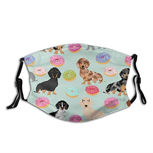 Doxie Dachshunds Donuts perro lindo perro mejor Doxies perro ajustable filtro facial reutilizable regalos para adultos niños