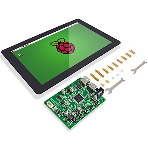 SUNFOUNDER Raspberry Pi 10.1' Display Touchscreen 10.1 inch IPS LCD HDMI 1280x800 for Raspberry Pi 4B 3 2 Model B And RPi 1 B+ LattePanda Beagle Bone