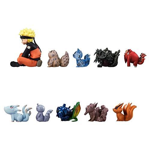 CostaSol 11pcs Naruto Uzumaki PVC Figures Tailed Beasts Shukaku Gyuki Kurama Isobu Son Goku Kokuo Saiken Chomei Shinju Action Figure Toys