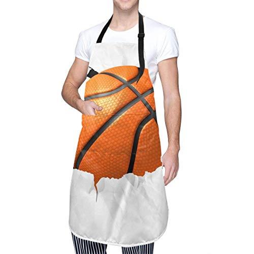 N\A Delantal con Babero de Chef de Baloncesto, Bandera Serbia, Cuello, Cintura, Bolsillo Central, Impermeable para el hogar