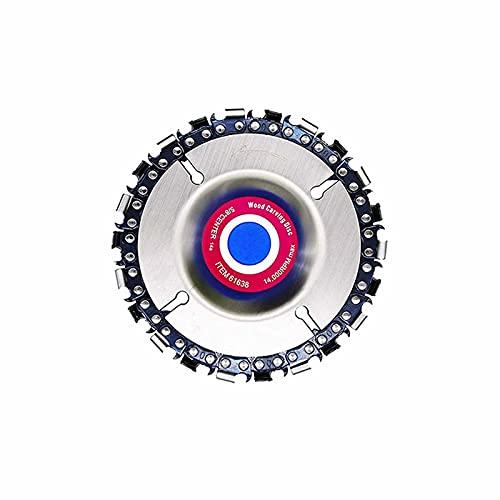 アングルグラインダー アングルグラインダーチェーンディスクダブルソー歯アンチキックバックウッドカービングソーブレード100/115アングルグラインダー4インチ用 木工カッターツール (Color : 4 inch 22 Teeth)