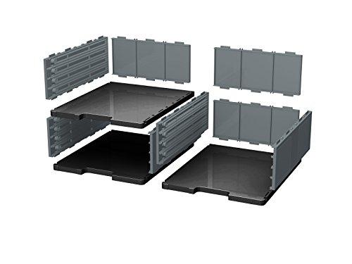 Exacompta Ecoblack Module de classement 36,30 x 30,50 x 13,50 cm Noir/Gris Souris