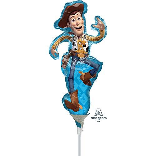Disney Amscan 3951602 Speelgoed verhaal 4 Woody vorm Mini folie ballonnen op stokken (3 Pack)