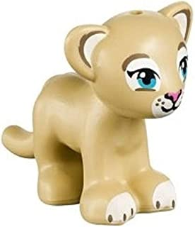 LEGO NEW TAN LION TIGER CUB baby Animal Zoo Jungle Minifigure Minifig Figure Cute girl boy