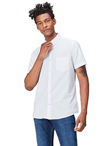 find. Camisa Clásica Manga Corta Hombre, Blanco (White), La
