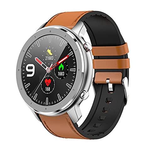 YDK F12 Smart Pulsera Watch 1.3 Pulgadas All Rueda Pantalla táctil Completa Impermeable IP68 Podómetro SmartWatch Hombre Monitoreo del corazón Pulsera DT78,A