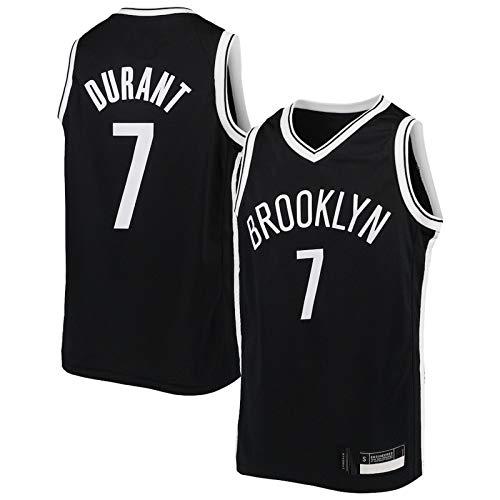 MZAW Durant Jersey # 7 al aire libre Kevin Basketball Jersey Brooklyn Kid Away Baloncesto Jersey Fan Nets Edición Resistencia al desgarro Sudadera Chaleco - Negro