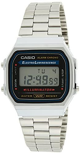 Casio Reloj con Correa de Acero Inoxidable A168WA-1A