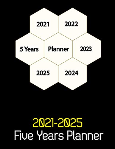 2021-2025 Five Years Planner: For Long-Term Planning. A 5 Years Planner With Contact Information, Password Log, Birthday Log, Calendar, Monthly ... Christmas, Halloween, Thanksgiving Gifts