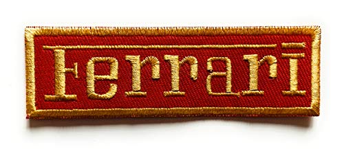 Parche bordado con logotipo de la marca Ferrari para planchar y coser