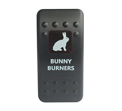 bandc Bunny Brenner Rocker Toggle Switch On/Off SPST rot LED 5 Pins für Narva ARB Carling Stil Ersatz Wasserdicht IP66 Auto Boot 12 V/24 V
