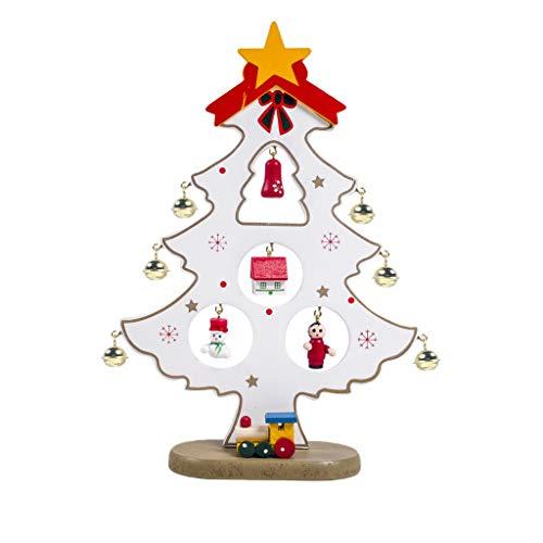 Factorys Mini albero di Natale Babbo Natale Pupazzo di neve Decorazione Altalena in legno Ornamento Decorazione per la casa di Natale