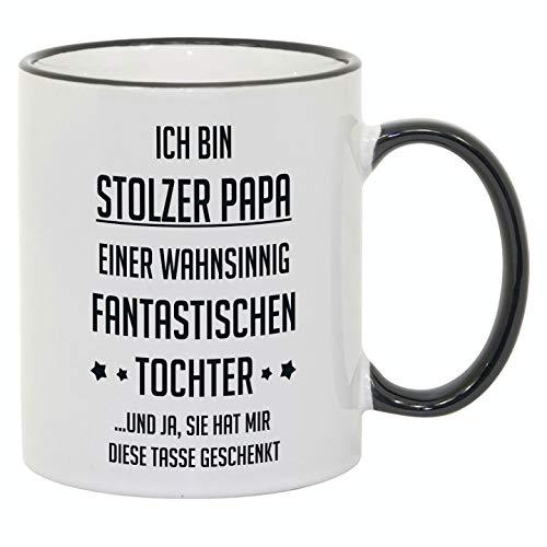 """Tasse mit Spruch/Schriftzug\""""Ich bin stolzer Papa.\"""" als Geschenk zum Geburtstag, Vatertag oder zu Weihnachten"""