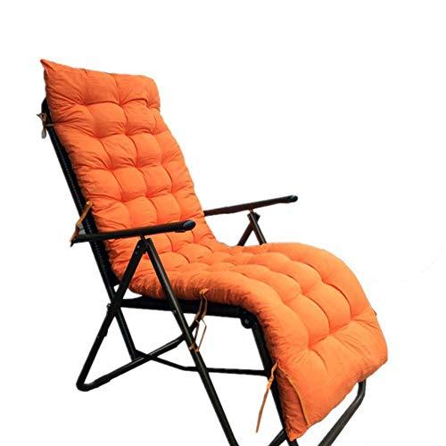 Iyom Cojín para Chaise Longue para Patio, Tumbona Gruesa, Muebles de jardín, sillas reclinables para Patio, cojín para Relajarse, Naranja, 175x48x8cm (69x19x3inch)
