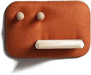 XWYYMJ コートラックウォールコートシェルフ、ヴィンテージ木製コートフック、洋服フック、玄関の棚、バスルーム廊下リビングルームキッチンストレージラックマウント Y6M8J3 (色 : オレンジ, サイズ : Medium)