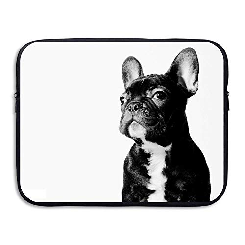 15 Inch Laptop Sleeve Water-Resistant Laptop Bags French Bulldog Briefcase Sleeve Case Bags
