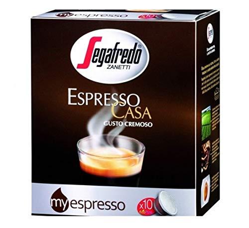 Segafredo - 10 Capsule Myespresso, Caffè Espresso Casa, Gusto Pieno E Cremoso - 1 Astuccio Da 10 Capsule, Non Aromatizzato, 60 Grammo