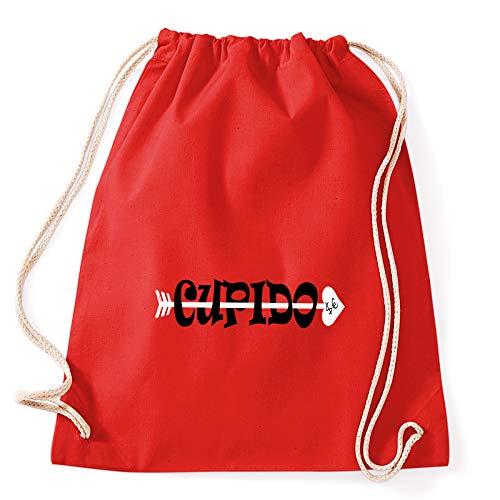 Art T-shirt, mochila bolsa bola Ebbasta Cupido bolsa Gym rojo Talla única