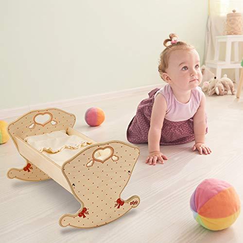 Dida - Babybett für Puppen - Dekoration: Laci...
