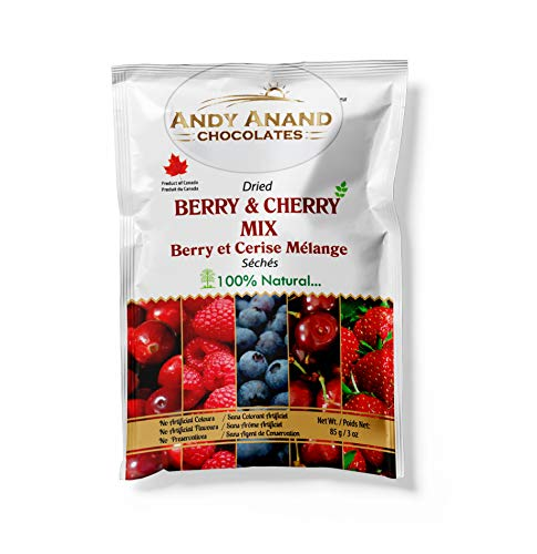 Andy Anand Chocolates Premium Dried Berry amp Cherry Mix Organic amp Preservative Free Pure fresh dry fruits Sweet and Tangy Berry Pack of 2 – 3 oz