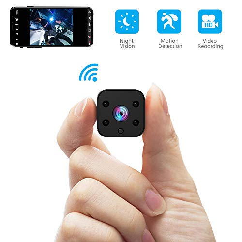 FULAO Mini Spy Camera WiFi Hidden Camera Wireless HD 1080P Indoor Home Small Spy Cam Security Cameras Nanny Cam with Motion Detection Night Vision for iPhone Android Phone iPad PC (spy Camera)